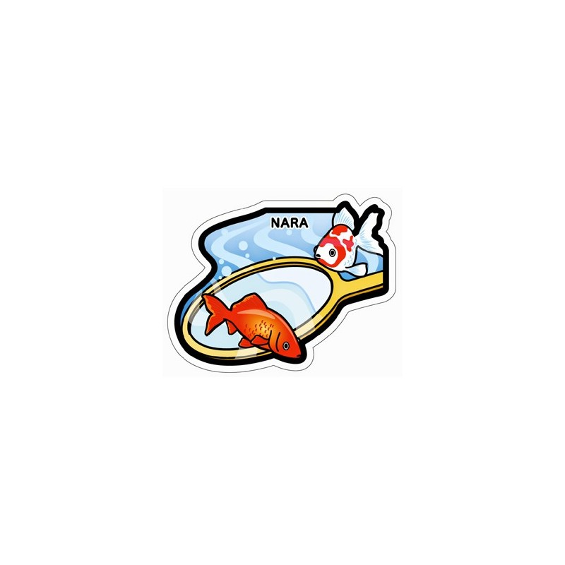 La pêche du poisson rouge à l'épuisette (Nara)