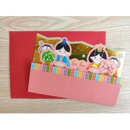 【Postcard】Hina Matsuri (Pink)