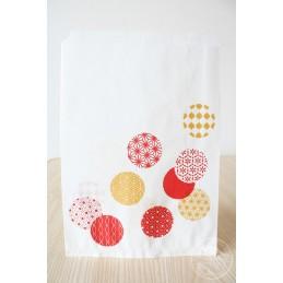 プレゼント用袋 バルーン 赤・金